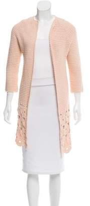 Lela Rose Open-Front Sweater Cardigan