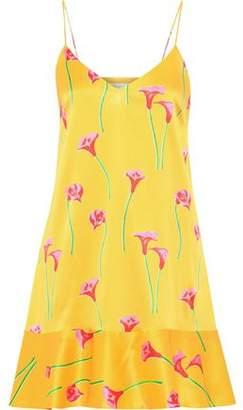 Caroline Constas Tina Floral-print Stretch-silk Satin Mini Slip Dress