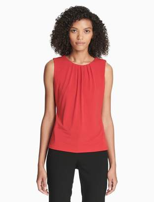 Calvin Klein pleat neck sleeveless shell