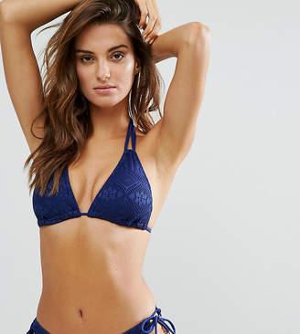 Dorina Exclusive Navy Triangle Crochet Bikini Top