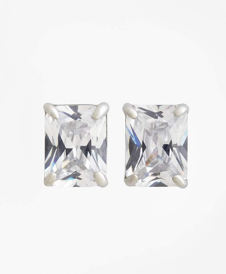 Pierced Square Stud Earrings