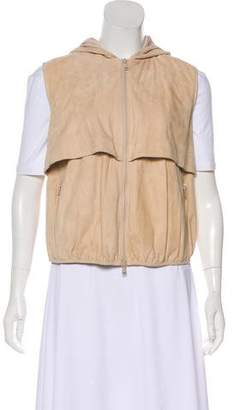 Brunello Cucinelli Hooded Leather Vest