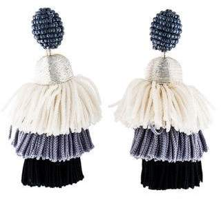 eb1b031e51dfe9 Oscar de la Renta Tiered Tassel Earrings