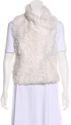 Yves Salomon Textured Shearling Vest