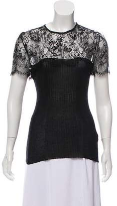 Emilio Pucci Silk Lace-Accented Top
