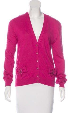 Love MoschinoLove Moschino Embellished Wool-Blend Cardigan