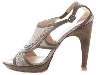 Salvatore Ferragamo Karung Platform Sandals
