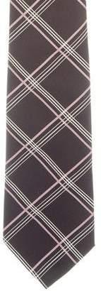 Ralph Lauren Purple Label Silk Plaid Print Tie