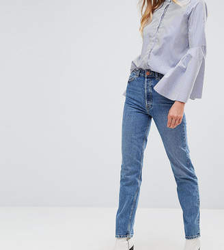 Asos Tall TALL RECYCLED FLORENCE Authentic Straight Leg Jeans in Mindy Vintage Blue Wash