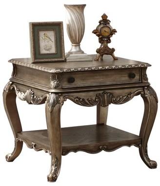 ACME Furniture Acme Ragenardus Victorian End Table in Vintage Oak