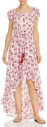 Tiare Hawaii Riviera Botanical-Print Button-Front Maxi Dress