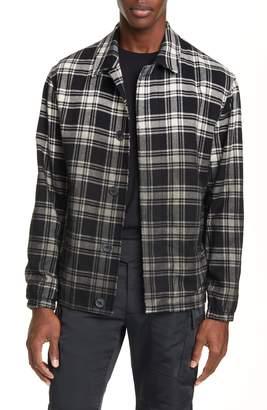 Alyx Plaid Button-Up Flannel Shirt Jacket
