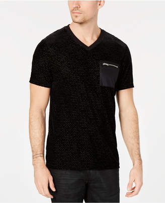 INC International Concepts I.n.c. Men's Velvet Burnout Zip-Pocket T-Shirt