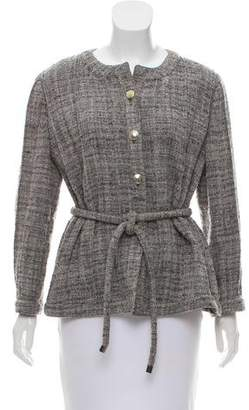 Armani Collezioni Belted Tweed Jacket