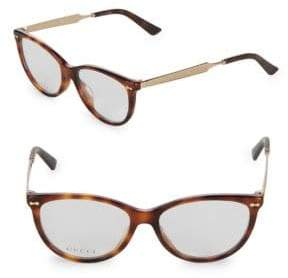 Gucci 50MM Cat Eye Optical Glasses