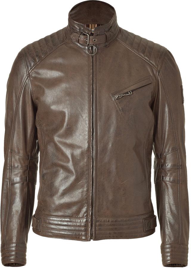 Belstaff Black-Brown Framingham Blouson Jacket