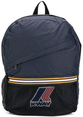 K Way Kids logo patch backpack