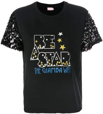 Giamba sequin embellished T-shirt