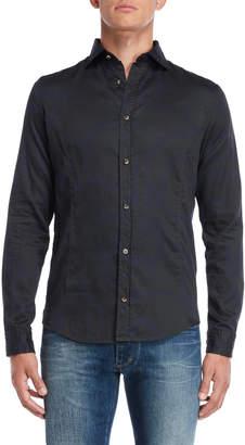 Armani Jeans Black & Navy Regular Fit Printed Shirt