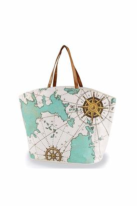 Mud Pie Nautical Map Tote $19.95 thestylecure.com
