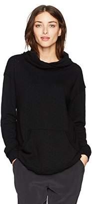Michael Stars Women's Perforated Terry Crossed Cowl Neck Sweatshirt