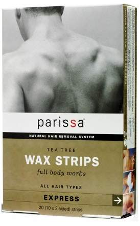Parissa Mens Wax Strips Tea Tree, All Hair Types