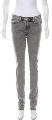 J Brand Acid Wash Mid-Rise Jeans