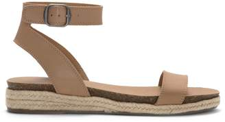 Lucky Brand Garston Leather Ankle-Strap Espadrilles