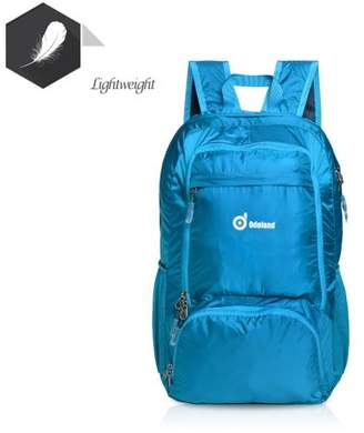 AGPtek Foldable Lightweight 35L Backpack Multiple Storage Compartments Folding Daypack Water Resistant Fabric Outdoor Blue