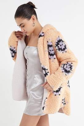 Urban Outfitters Carmella Cozy Reversible Teddy Coat