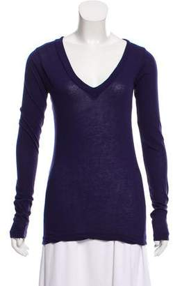 LnA Long Sleeve Scoop Neck Top