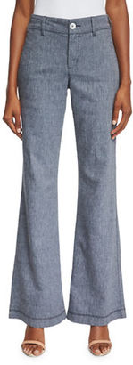 NYDJ Claire Textured Linen Twill Pants $92 thestylecure.com