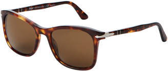 Persol PO3192S Brown & Tortoiseshell-Look Square Polarized Sunglasses