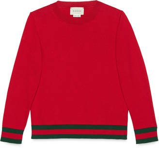 Children's cotton sweater with Web $240 thestylecure.com