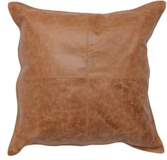 Villa Home Collection Dumont Leather Accent Pillow