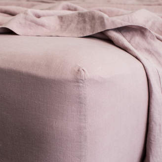 Lulu & Georgia Cultiver Linen Bedding, Dusk Fitted Sheet