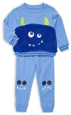 Nannette Baby Boy's Two-Piece Faux Fur Sweater & Jogger Pants Set