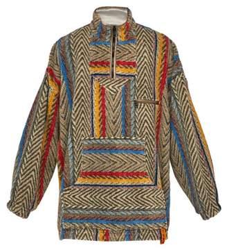 Y/Project Baja Half Zip Hooded Fleece Jacket - Mens - Beige