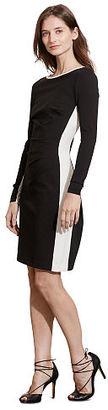 Ralph Lauren Lauren Color-Blocked Ponte Dress $139 thestylecure.com