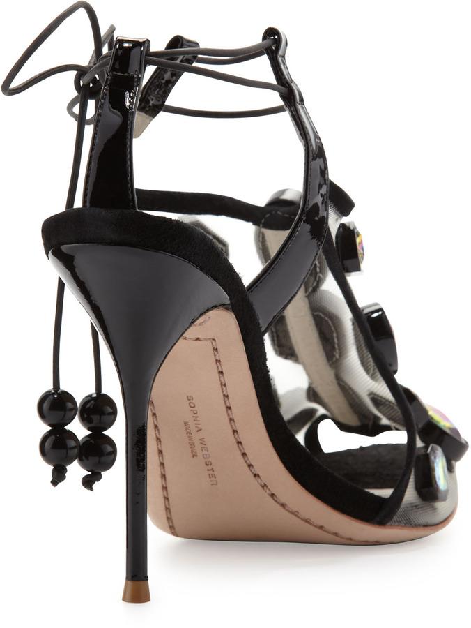 Webster Sophia Blake Jewels Sandal, Black