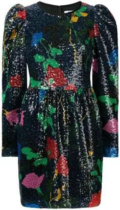 MSGM floral glitter short dress