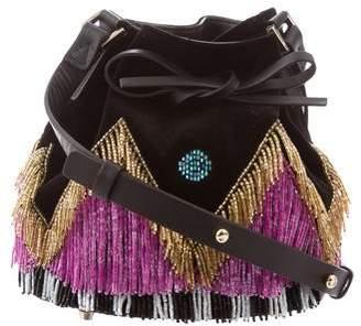 Les Petits Joueurs Disco Fringe Mini Daliah Bucket Bag