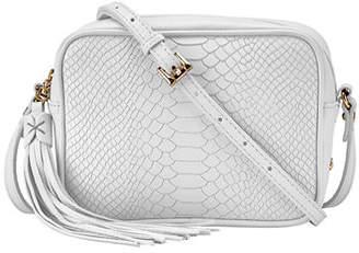 GiGi New York Madison Python-Embossed Leather Crossbody Bag