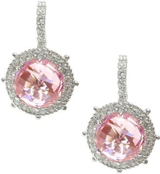 Judith Ripka Sterling & Choice of Color Diamonique Earrings