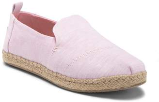 Toms Deconstructed Alpargata Chambray Slip-On Espadrille