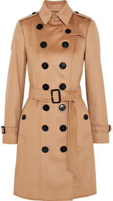 Burberry The Sandringham Cashmere Trench Coat - Camel