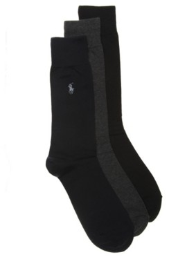 Polo Ralph Lauren Solid Men's Dress Socks - 3 Pack