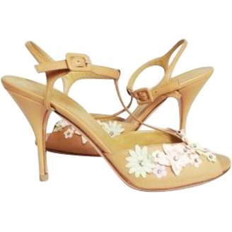 Valentino Beige Leather Sandals