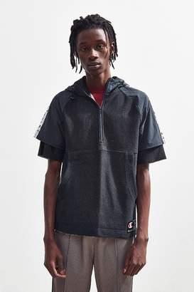 Champion Reverse Weave Short Sleeve Quarter-Zip Sweatshirt