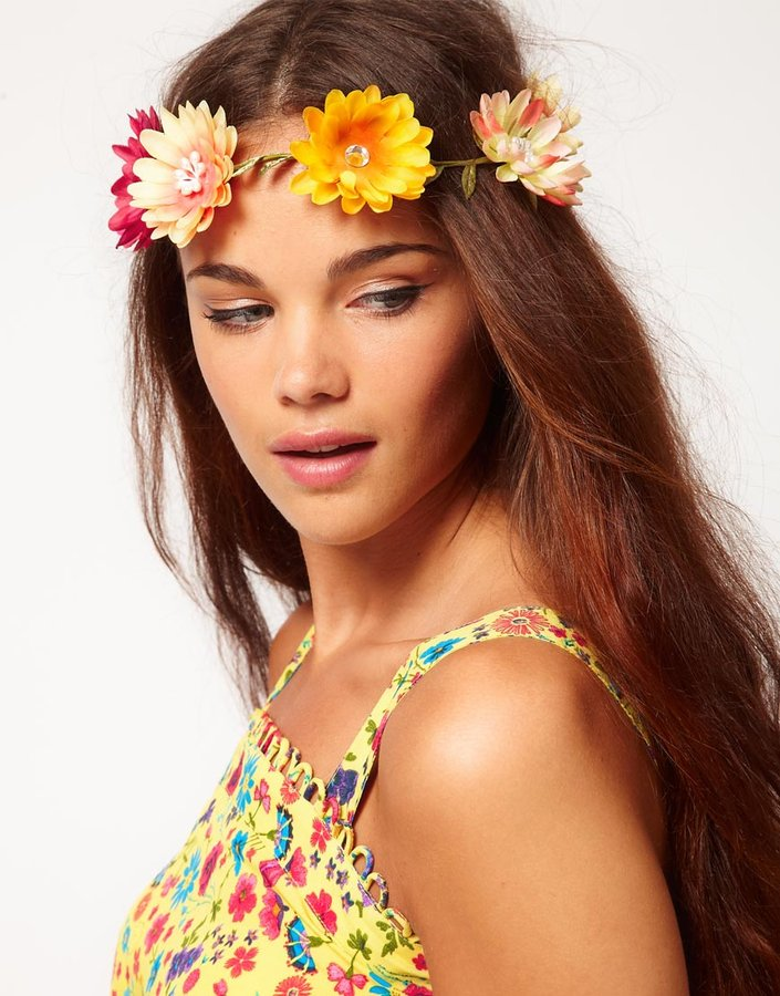 River Island Large Daisy Garland Head Band